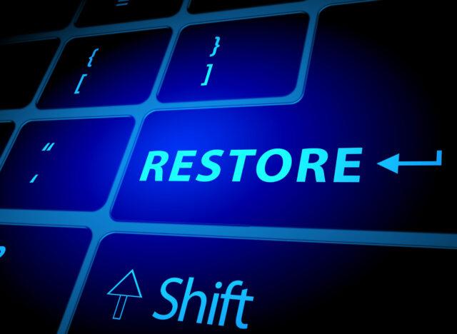 Restore button